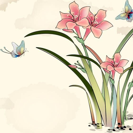 Красивые нарисованные картинки цветов - удивительные и красочные 1