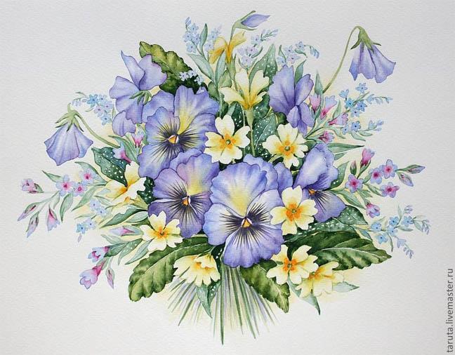 Красивые нарисованные картинки цветов - удивительные и красочные 10
