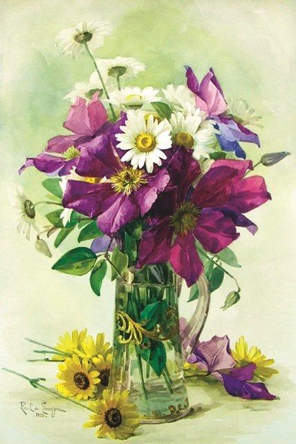Красивые нарисованные картинки цветов - удивительные и красочные 11