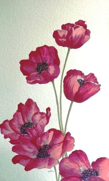 Красивые нарисованные картинки цветов - удивительные и красочные 8