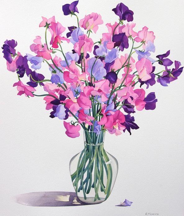 Красивые нарисованные картинки цветов - удивительные и красочные 9