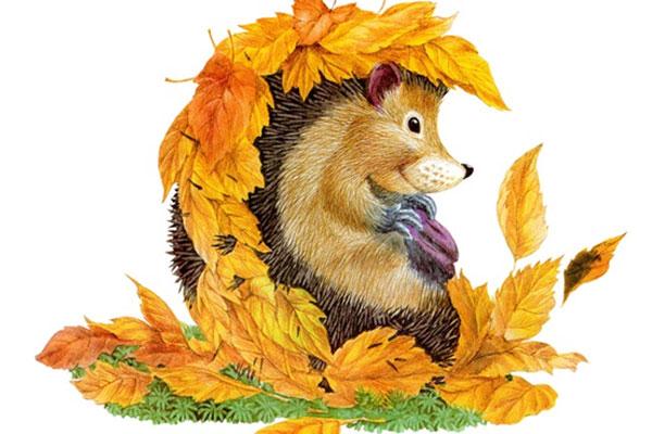 Осень картинки для детей и малышей - прикольные и красивые 11