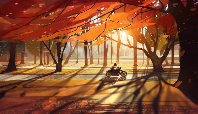 Осень картинки для детей и малышей - прикольные и красивые 12