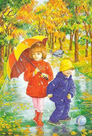 Осень картинки для детей и малышей - прикольные и красивые 13