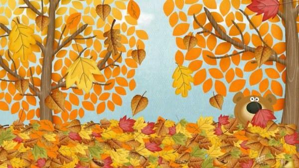 Осень картинки для детей и малышей - прикольные и красивые 4