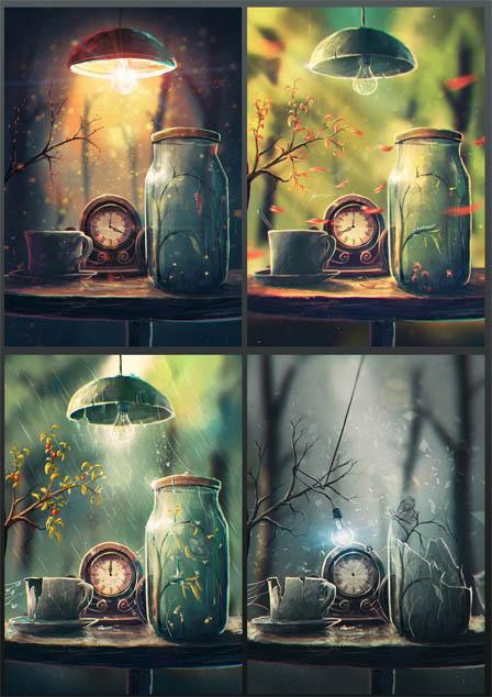 Очень красивые и интересные АРТ картинки - невероятные, смотреть 3