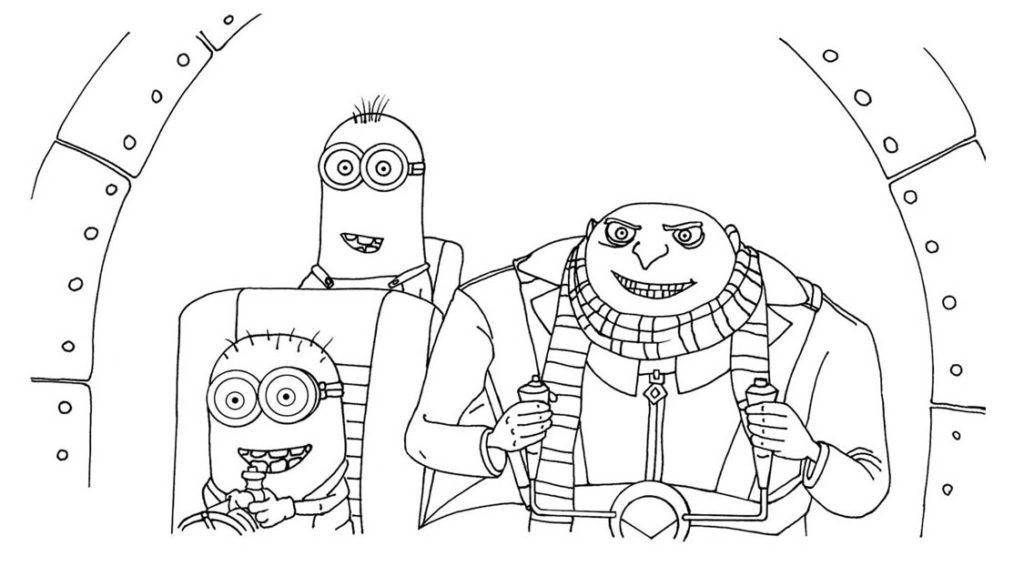 Раскраски Гадкий я 3 из мультфильма - прикольные, красивые и крутые 4