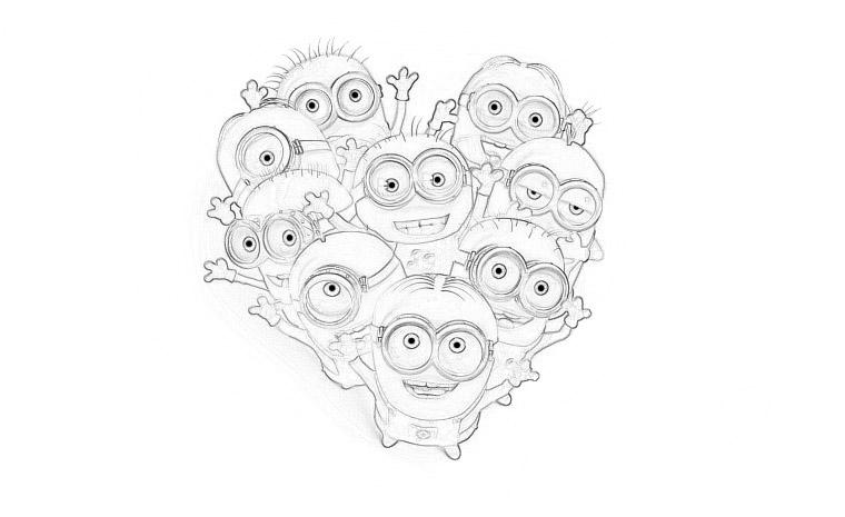 Раскраски Гадкий я 3 из мультфильма - прикольные, красивые и крутые 5