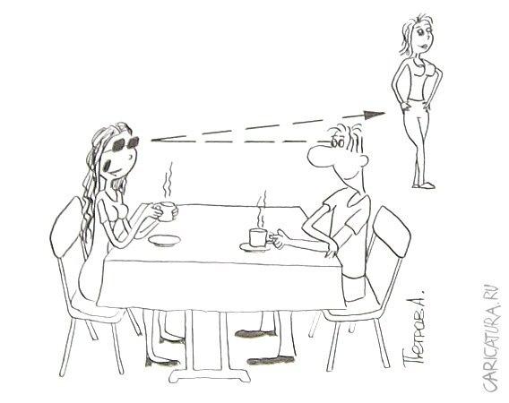 Смешные карикатуры на женщин - прикольные, забавные и веселые 10