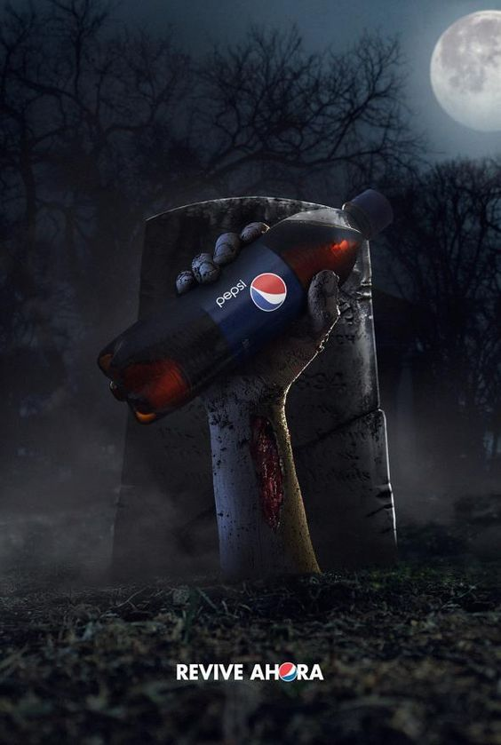 Интересная подборка рекламных творений к Хэллоуину - фото, картинки 3