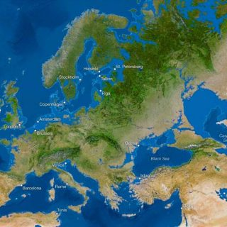 Карта мира после таяния всех льдов. Анализ от National Geographic 1