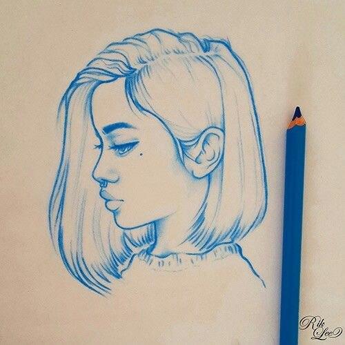 Картинки для срисовки в скетчбук - прикольные и красивые, скачать 13