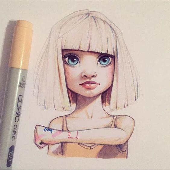 Очень красивые рисунки для срисовки - прикольные и необычные 9