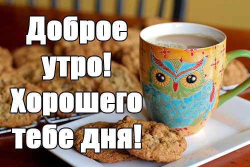Скачать картинки с надписями Доброе утро - красивые и приятные 9
