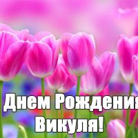 С Днем Рождения Вика - скачать бесплатно поздравления, красивые 13