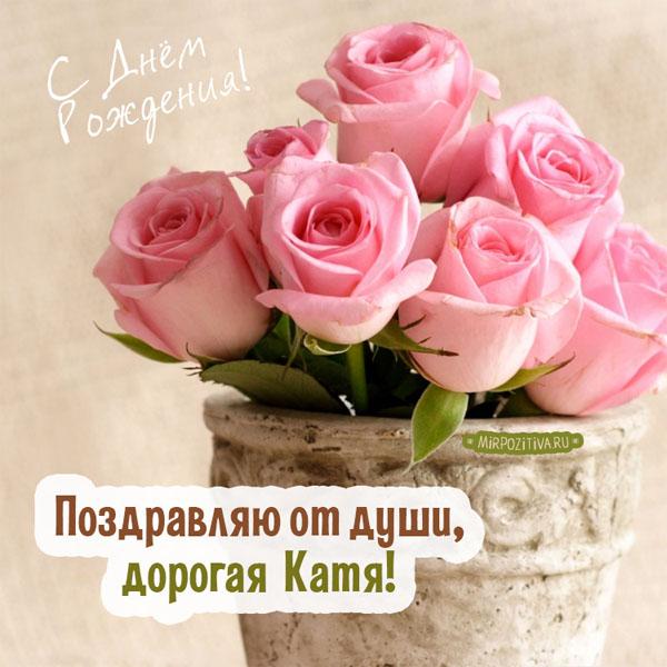 С Днем Рождения Катя - прикольные и красивые картинки поздравления 2