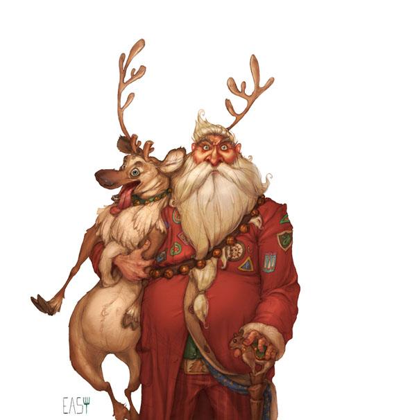 Дед Мороз и Снегурочка красивые картинки - подборка для детей 12