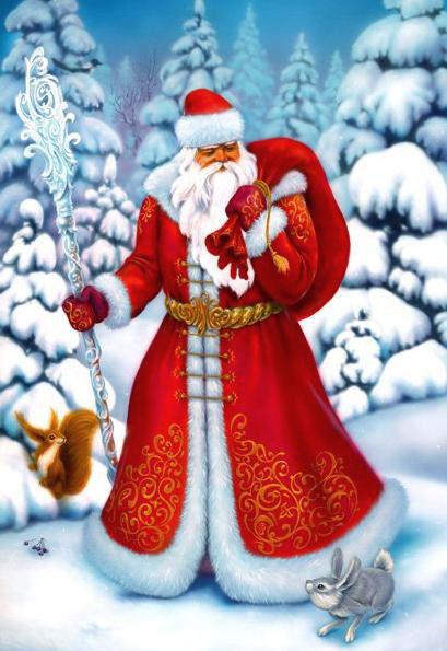Дед Мороз и Снегурочка красивые картинки - подборка для детей 8