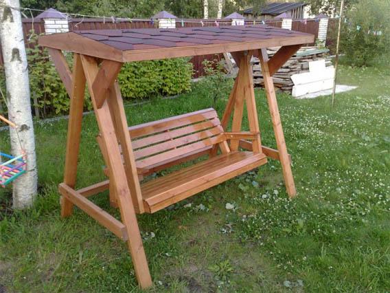 Как сделать деревянные качели своими руками - основные способы 1
