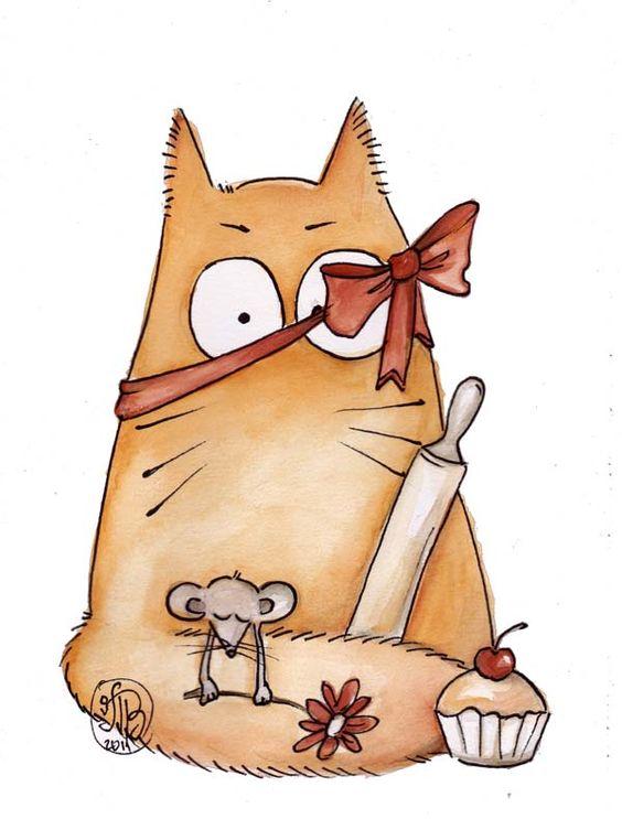 Картинки котиков для срисовки - очень интересные, красивые и легкие 14