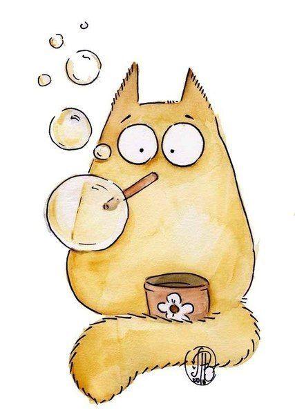 Картинки котиков для срисовки - очень интересные, красивые и легкие 9