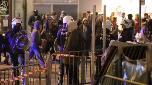 Массовые беспорядки происходят в центре Брюсселя - новости 1