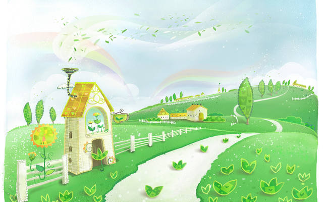 Наш волшебный зеленый дом картинки и рисунки - красивые и удивительные 6