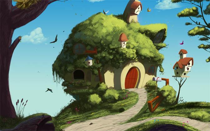 Наш волшебный зеленый дом картинки и рисунки - красивые и удивительные 8