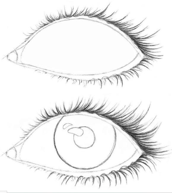 Картинки для срисовки глаза девушек и парней - красивые и прикольные 2