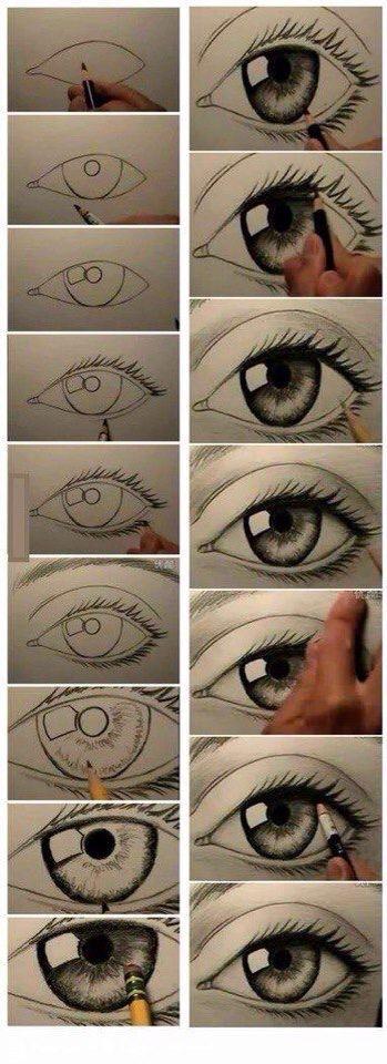 Картинки для срисовки глаза девушек и парней - красивые и прикольные 4
