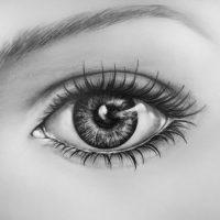 Картинки для срисовки глаза девушек и парней - красивые и прикольные 5