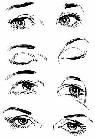 Картинки для срисовки глаза девушек и парней - красивые и прикольные 6