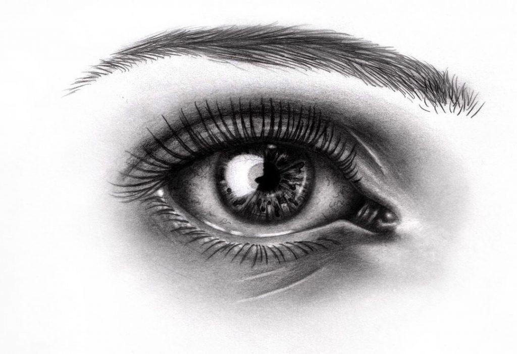 Картинки для срисовки глаза девушек и парней - красивые и прикольные 9