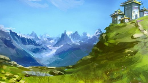 Картинки для срисовки пейзаж - самые красивые и удивительные 14