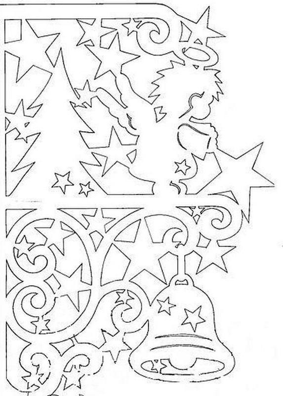Картинки на окне из бумаги в Новый год - очень красивые и прикольные 1