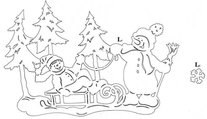 Картинки на окне из бумаги в Новый год - очень красивые и прикольные 7