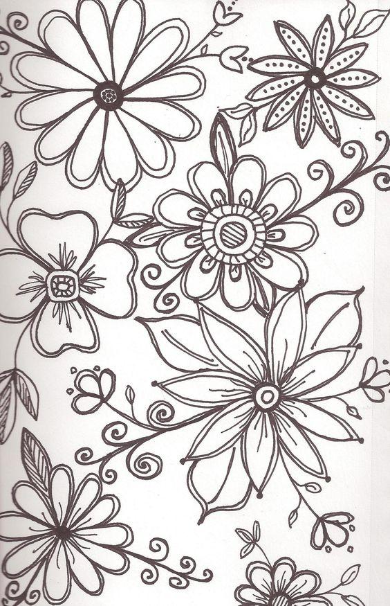 Картинки для срисовки узоры с цветами