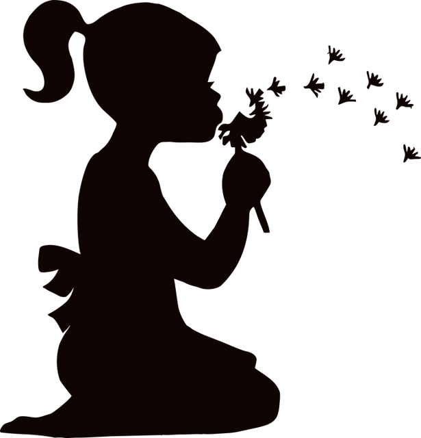 Прикольные и красивые силуэты детей - картинки и изображения 2