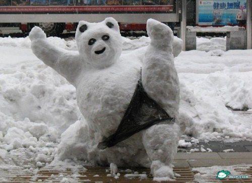 Веселые и смешные картинки про зиму и снег - забавная подборка №23 1