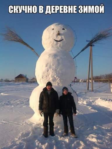 Веселые и смешные картинки про зиму и снег - забавная подборка №23 14