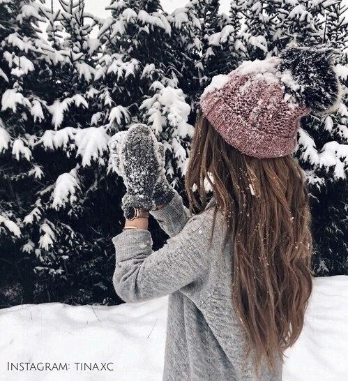 Картинки девушки зимой со спины на аву - красивые и прикольные 11