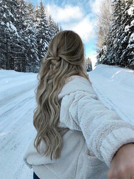 Картинки девушки зимой со спины на аву - красивые и прикольные 2