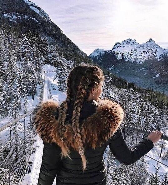 Картинки девушки зимой со спины на аву - красивые и прикольные 7