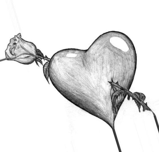Картинки для срисовки про любовь - самые милые и прикольные 11