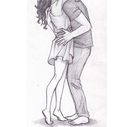 Картинки для срисовки про любовь - самые милые и прикольные 8