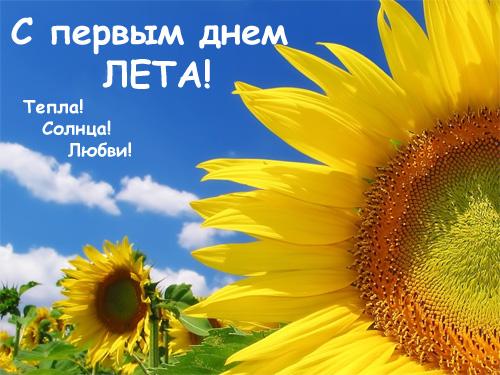 Картинки и открытки С первым днем лета - красивые и прикольные 6