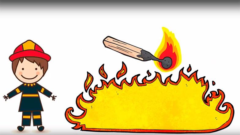 Красивые и интересные рисунки на тему пожарная безопасность - для детей 7