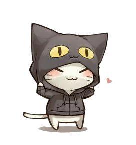 Рисунки котиков и кошек для срисовки - красивые и прикольные 14