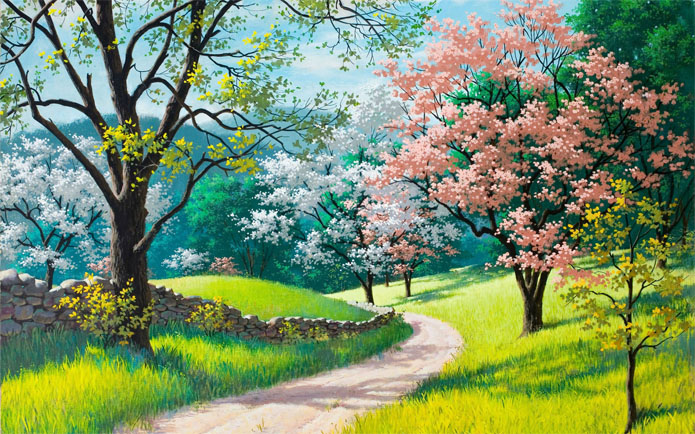 Картинки и рисунки для детей на тему Краски Весны - самые красивые 1
