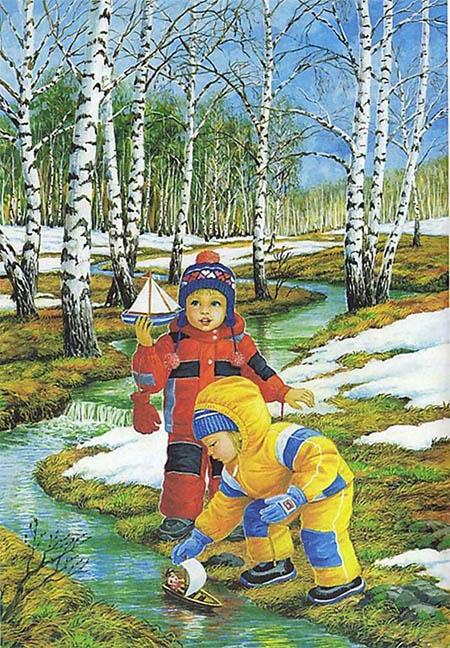 Картинки на тему Весна для детского сада - самые красивые и прикольные 11